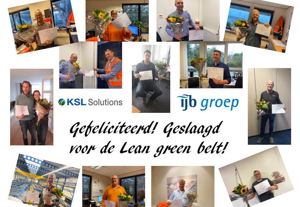 IJB-groep Lean Green Beltt